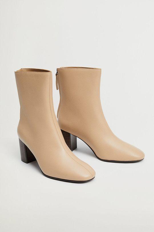 Mango - Kožené kotníkové boty COMFY1  Svršek: Telecí kůže Podrážka: Umělá hmota Vložka: Textilní materiál