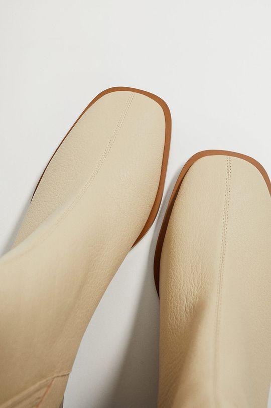 Mango - Kožené kotníkové boty SOFT  Svršek: Umělá hmota, Kozí kůže Vnitřek: Umělá hmota Podrážka: Umělá hmota