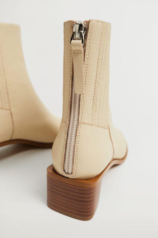 Mango - Kožené kotníkové boty SOFT
