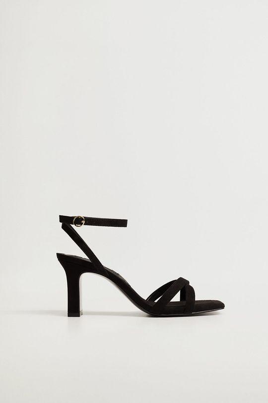 čierna Mango - Sandále OMG Dámsky