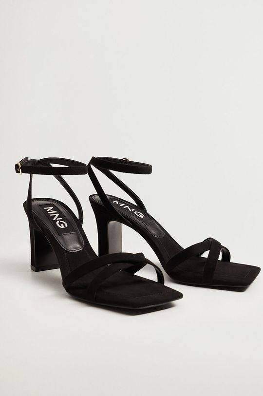 Mango - Sandále OMG čierna