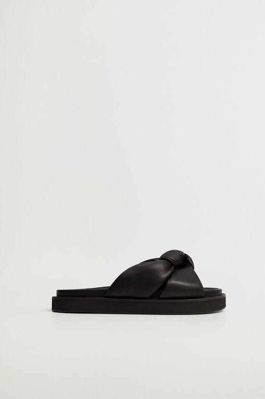 černá Mango - Pantofle PONTA Dámský