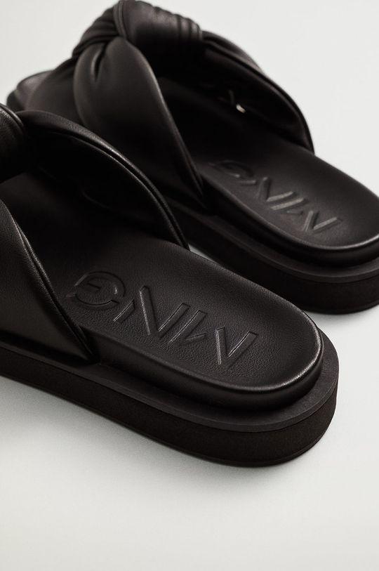 Mango - Pantofle PONTA černá