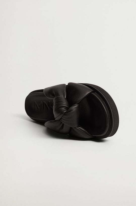 černá Mango - Pantofle PONTA