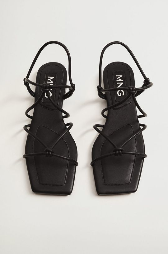 černá Mango - Sandály ROX
