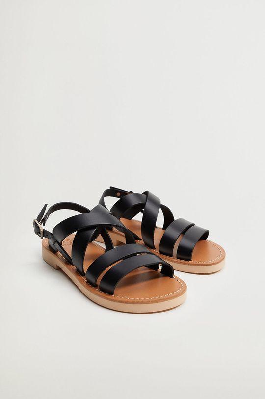 Mango Kids - Dětské sandály BRISBANE černá