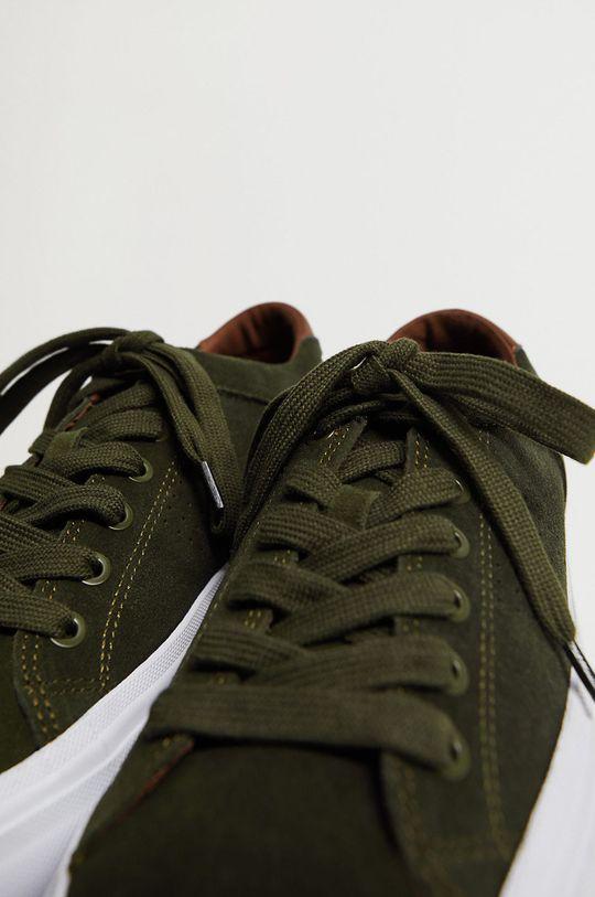 zlatohnědá Mango Man - Kožené boty SERRA