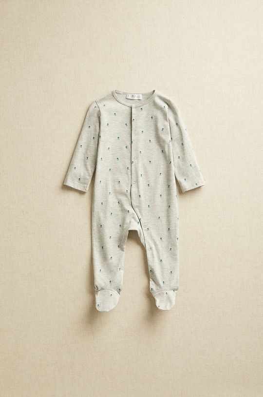 szary Mango Kids - Śpioszki niemowlęce JACKNB Dziecięcy