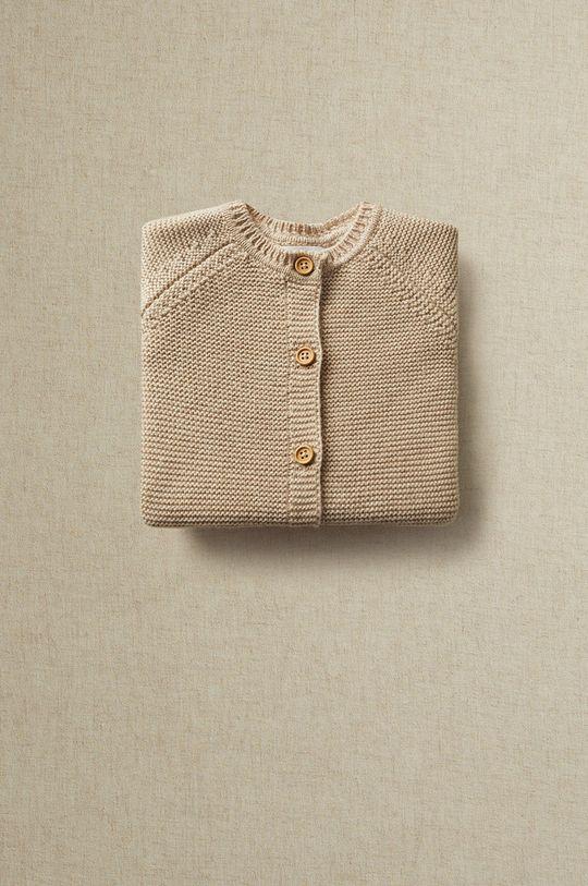 Mango Kids - Kardigán pre bábätká BOBANB  42% Akryl, 58% Organická bavlna