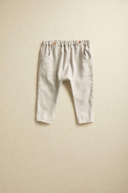 gri deschis Mango Kids - Pantaloni bebe CARLOS De copii
