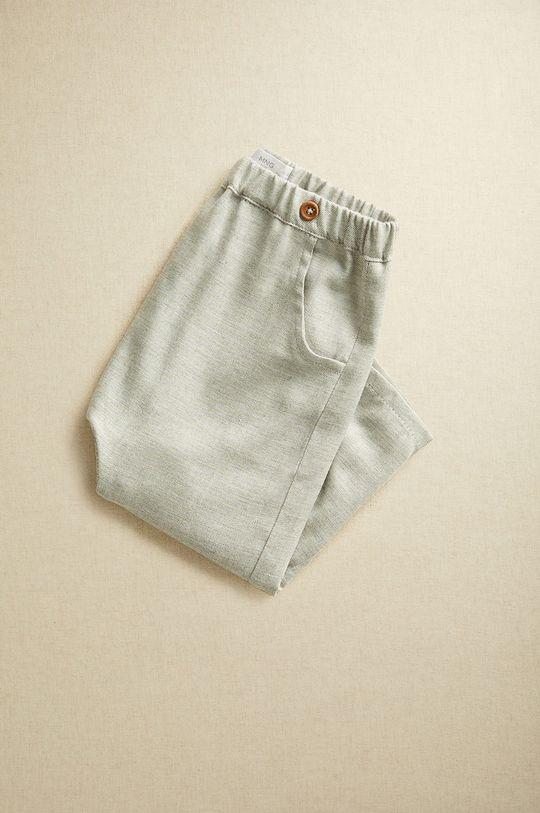 Mango Kids - Pantaloni bebe CARLOS gri deschis