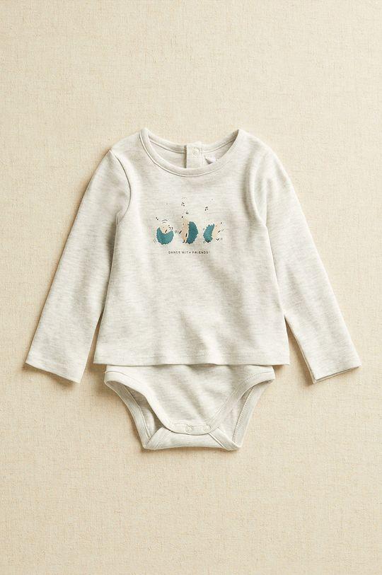 szary Mango Kids - Body niemowlęce DANCE Dziecięcy