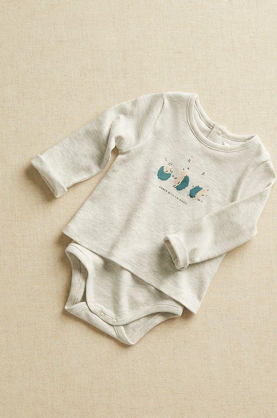Mango Kids - Body niemowlęce DANCE szary