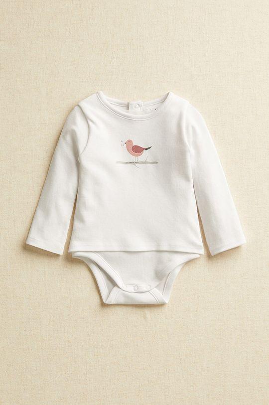 biały Mango Kids - Body niemowlęce DANCE Dziecięcy