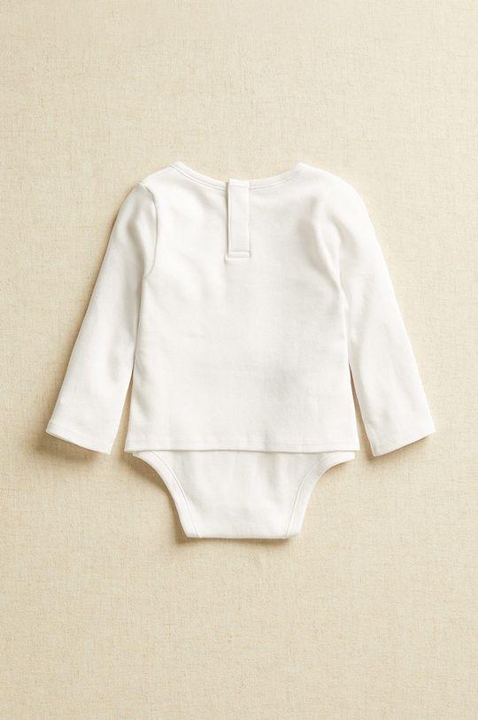biały Mango Kids - Body niemowlęce DANCE