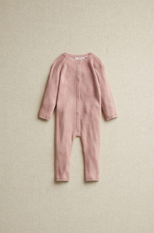 pastelowy różowy Mango Kids - Śpioszki niemowlęce NIDITO8 Dziecięcy