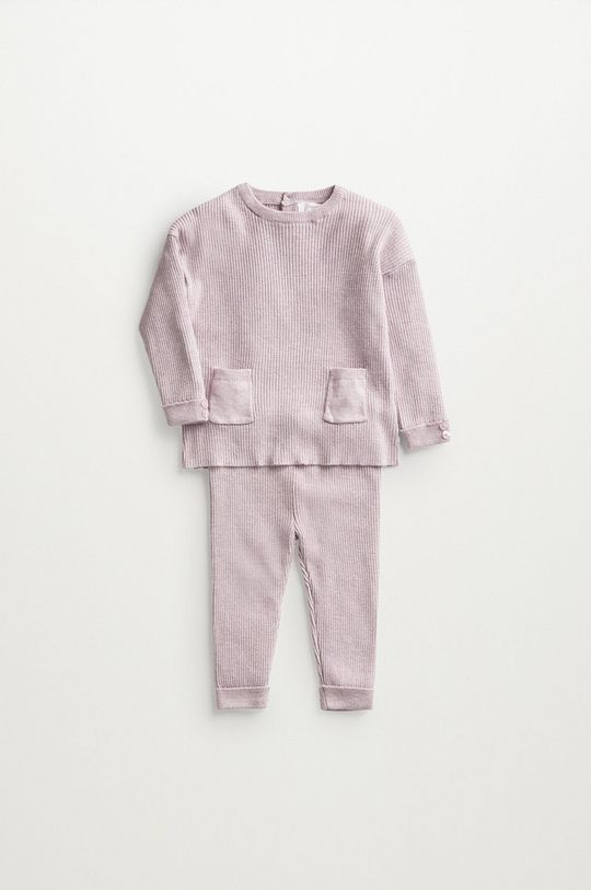 purpurová Mango Kids - Kojenecký svetr PAOLA Dětský