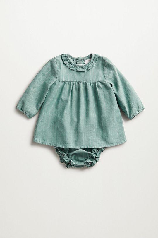 zelená Mango Kids - Kojenecká sukýnka SANDRA Dětský