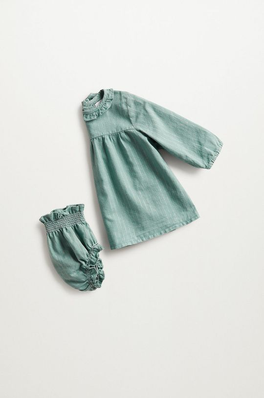 zelená Mango Kids - Kojenecká sukýnka SANDRA