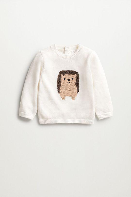 bílá Mango Kids - Kojenecký svetr PINCHO Dětský