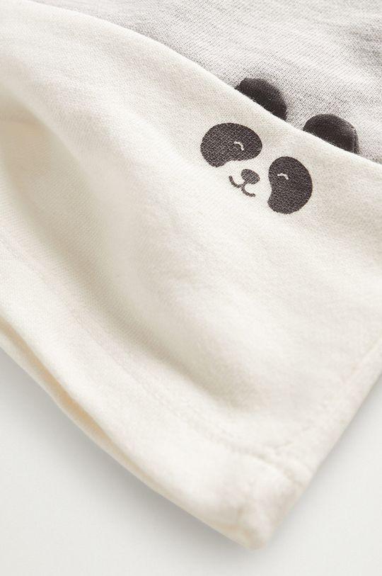 Mango Kids - Bluza niemowlęca PANDA 97 % Bawełna organiczna, 3 % Poliester