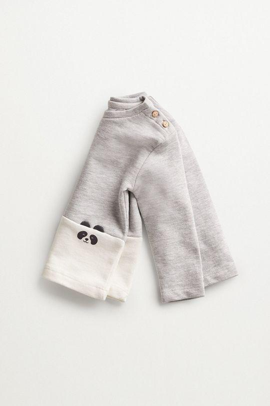 jasny szary Mango Kids - Bluza niemowlęca PANDA