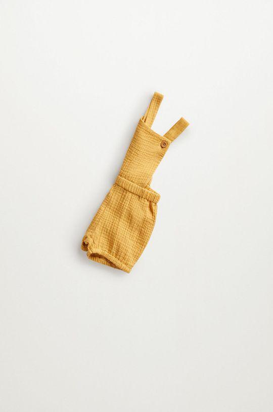 Mango Kids - Szorty niemowlęce Marion 62-80 cm żółty
