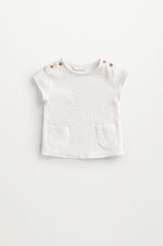 biały Mango Kids - Bluzka bawełniana niemowlęca FABIO Dziecięcy