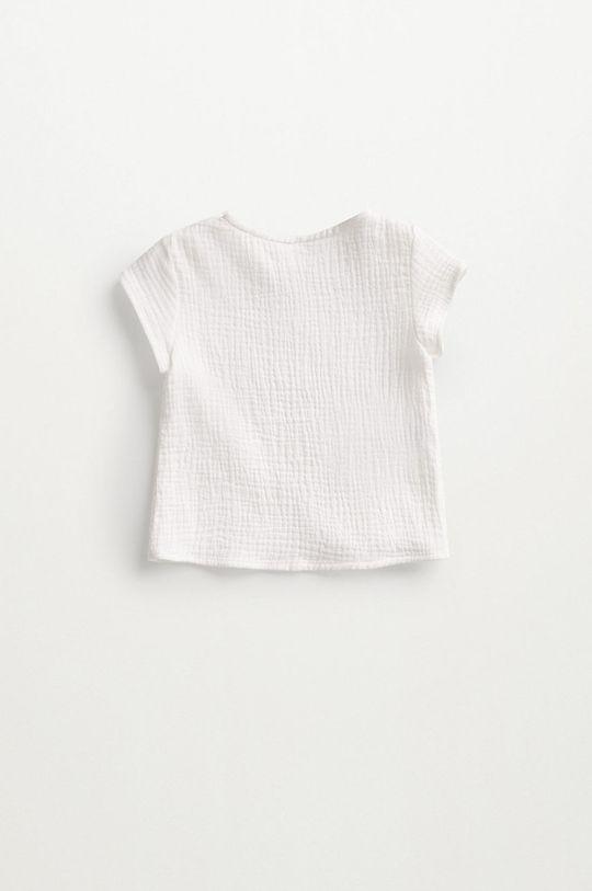 biały Mango Kids - Bluzka bawełniana niemowlęca FABIO