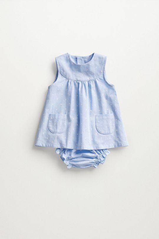 blady niebieski Mango Kids - Sukienka niemowlęca FLORIDA Dziecięcy