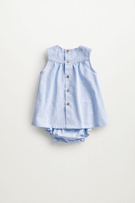 Mango Kids - Sukienka niemowlęca FLORIDA blady niebieski