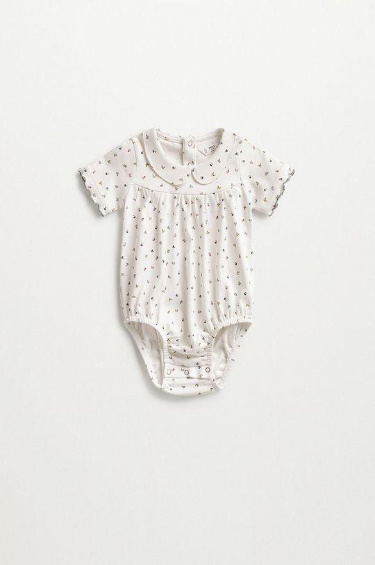 biały Mango Kids - Body niemowlęce Cuki 62-80 cm Dziecięcy
