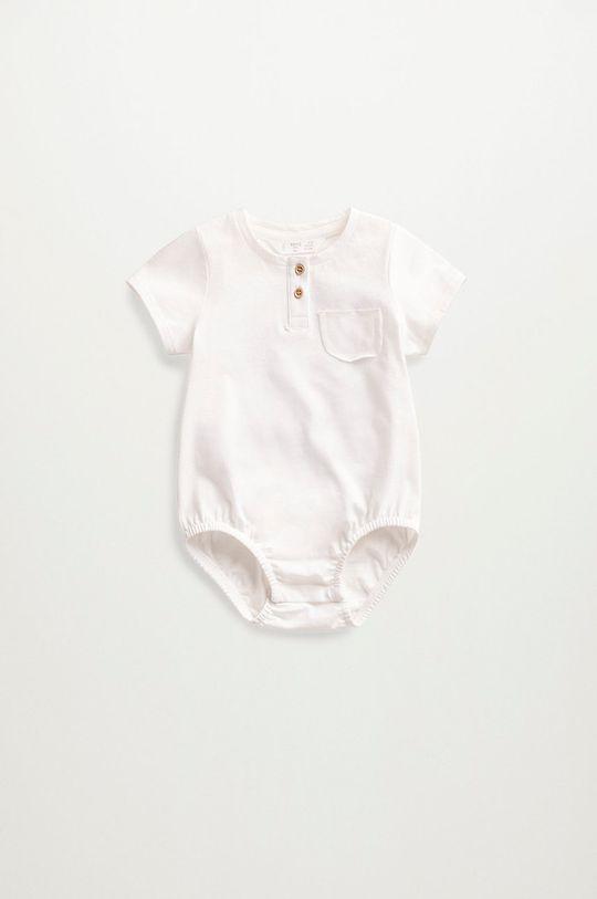 biały Mango Kids - Body niemowlęce Jamies 62-80 cm Dziecięcy
