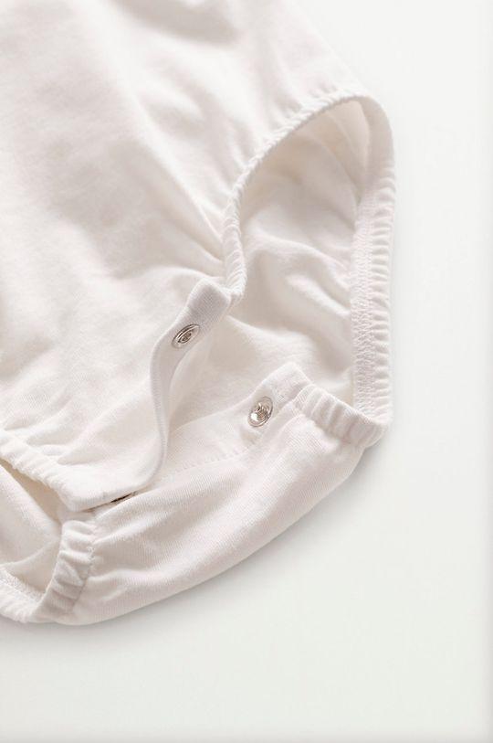 Mango Kids - Body niemowlęce Jamies 62-80 cm biały