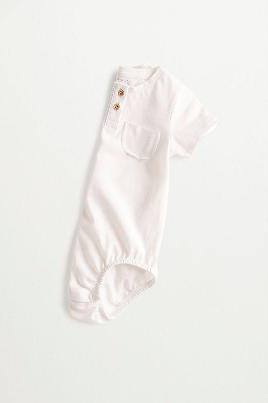 biały Mango Kids - Body niemowlęce Jamies 62-80 cm
