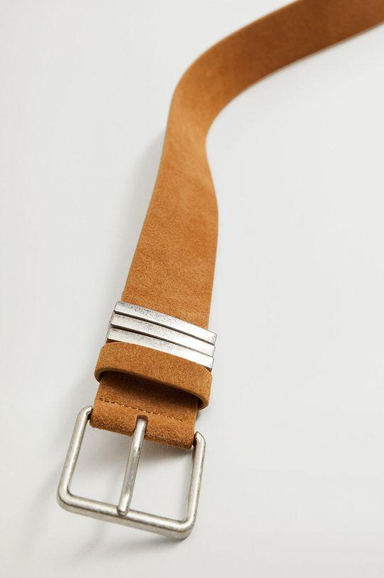 béžová Mango - Kožený pásek FIELD