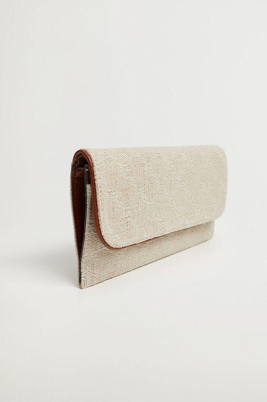 Mango - Peněženka LINK  Podšívka: 100% Polyester Hlavní materiál: 14% Bavlna, 46% Juta, 29% Polyester, 11% Viskóza