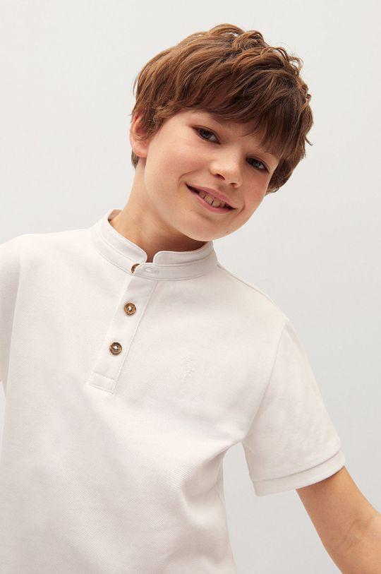 biały Mango Kids - Polo dziecięce HANOI82 Chłopięcy