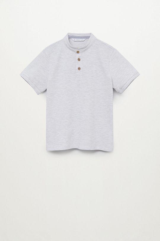 světle šedá Mango Kids - Dětské polo tričko HANOI82 Chlapecký