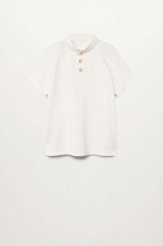 biały Mango Kids - Polo dziecięce Hanoi8 110-164 cm Chłopięcy