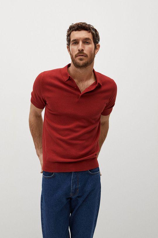 czerwony Mango Man - Polo TWINGLY Męski