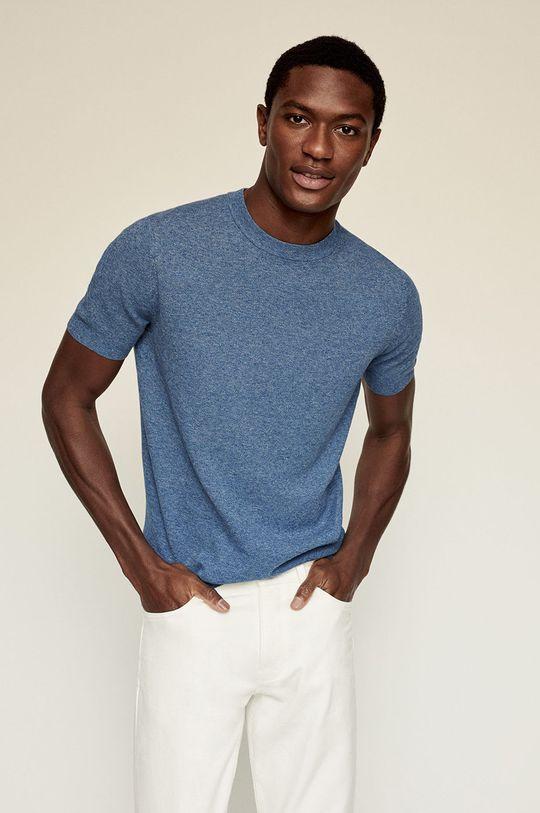 modrá Mango Man - Tričko Andrew Pánský