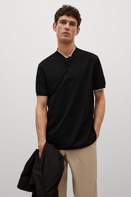 čierna Mango Man - Polo tričko Branch Pánsky