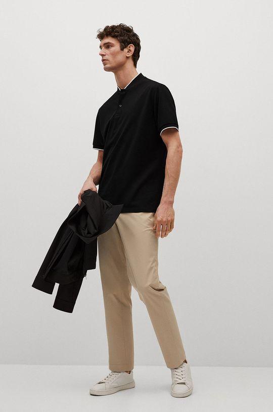 Mango Man - Polo tričko Branch čierna