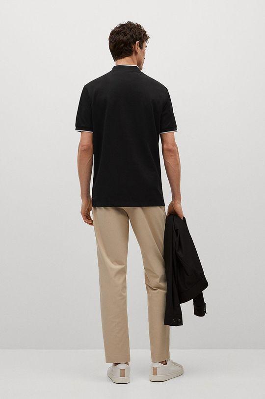 Mango Man - Polo tričko Branch  55% Bavlna, 45% Polyester