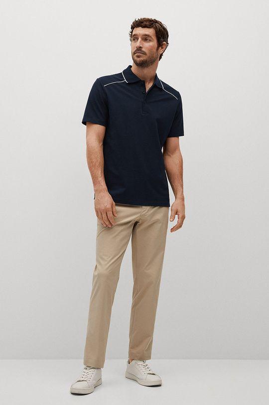 Mango Man - Polo tričko Pipe tmavomodrá