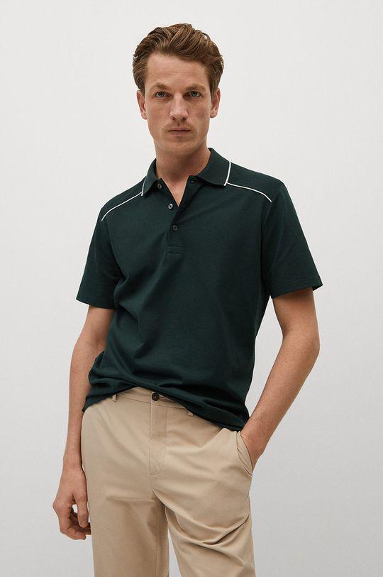 zelená Mango Man - Polo tričko Pipe Pánsky