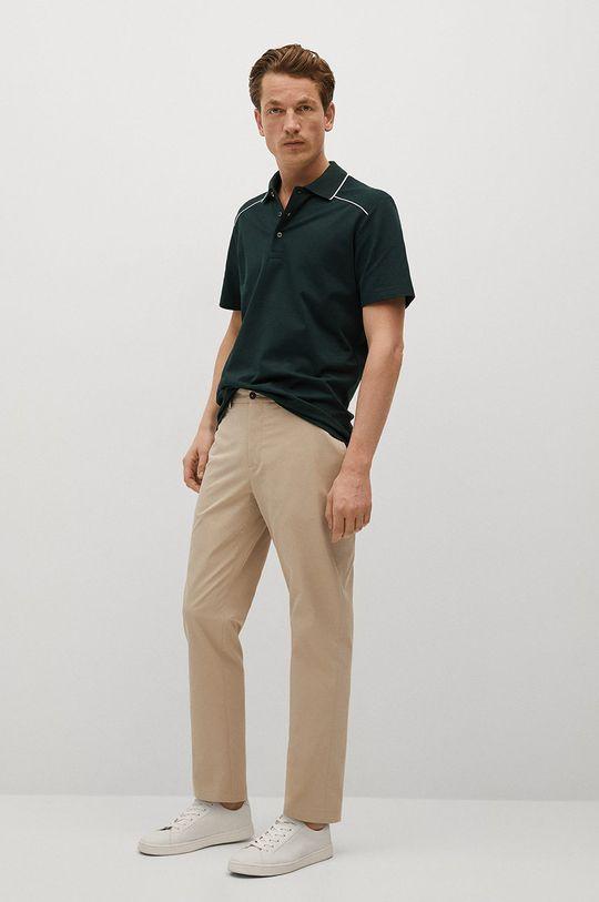 Mango Man - Polo tričko Pipe zelená