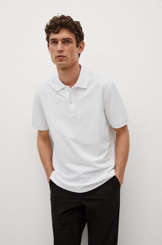 bílá Mango Man - Polo tričko Rea Pánský
