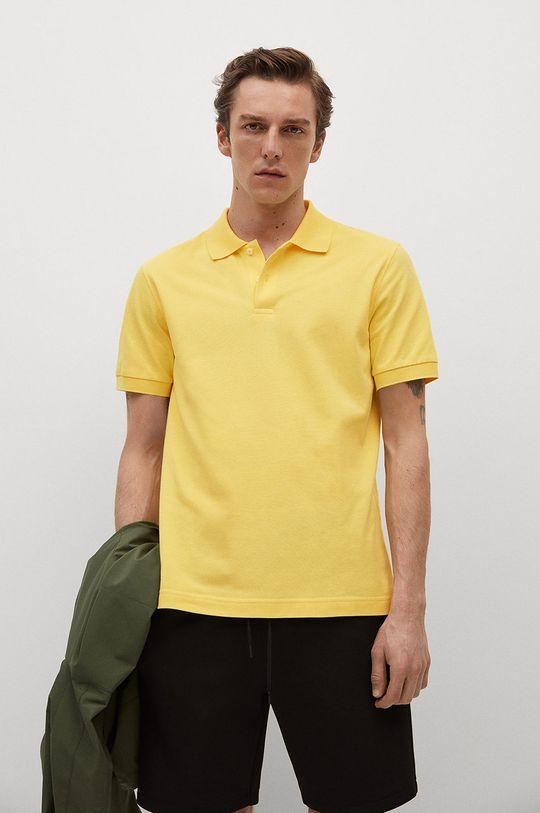 žltá Mango Man - Polo tričko Rea Pánsky